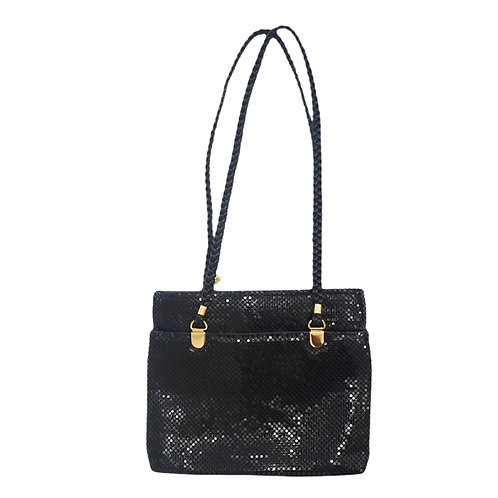 Black Metallic Shoulder Purse