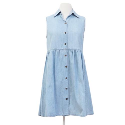 Denim Button Down Mini Dress