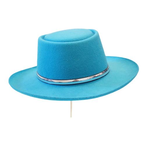 Teal Wide Brim Hat