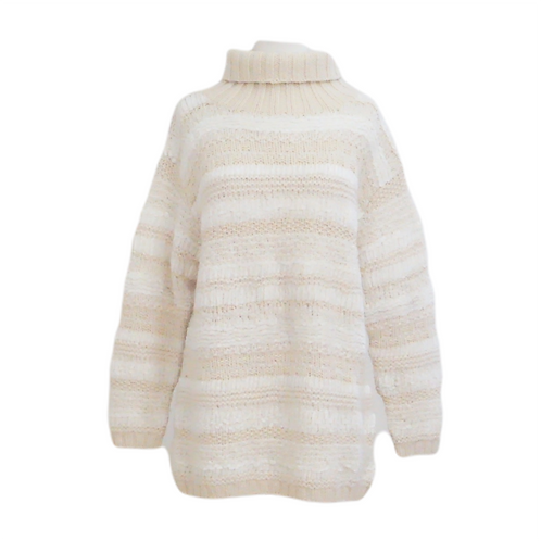 Chunky Cream Turtleneck Sweater