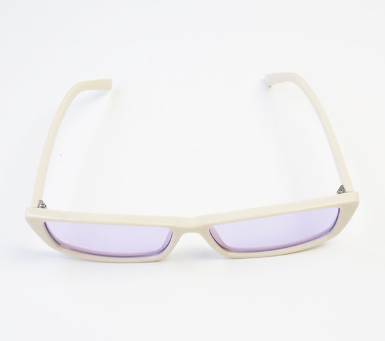 White and Purple Rectangle Sunnies