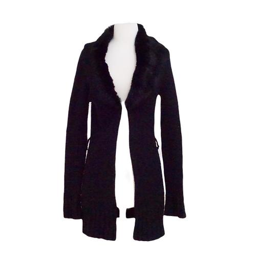 Black Fur Trim Sweater
