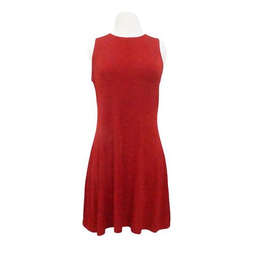 Red Glitter Mini Dress
