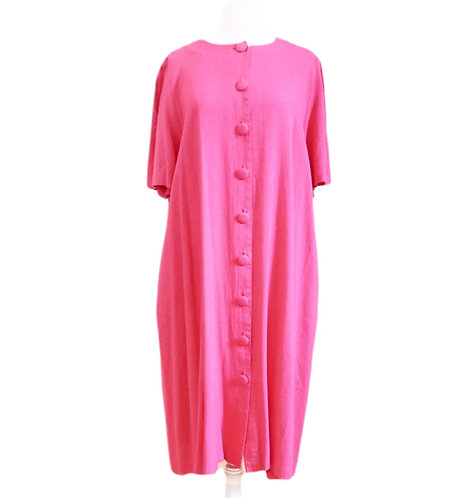 Pink Button Down Tunic Dress