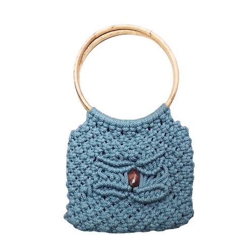 Blue Macrame Handbag