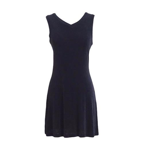 Black Stretch V-Neck Sleeveless Mini Dress