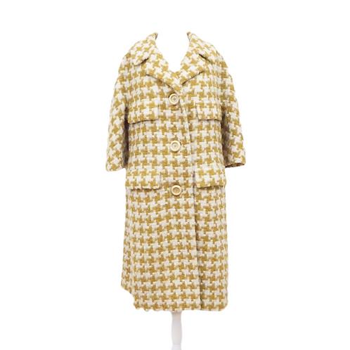 Mustard Pinwheel Coat