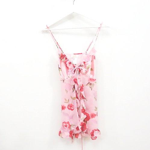 Pink Ruffled Rose Babydoll