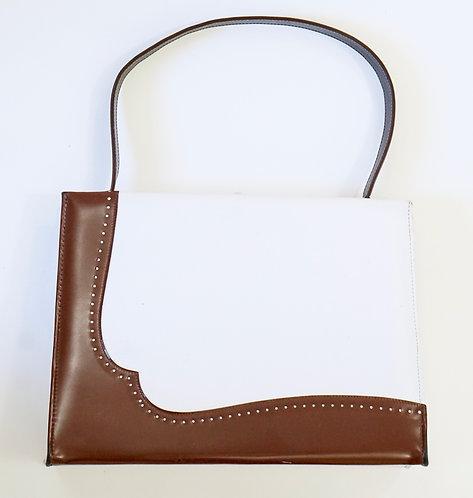 White and Brown Handbag