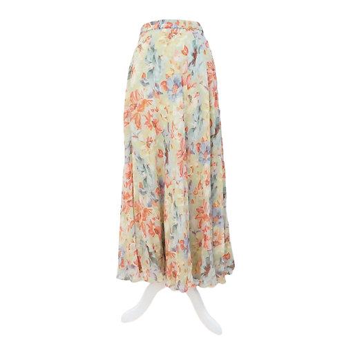 Reversible Green Long Skirt