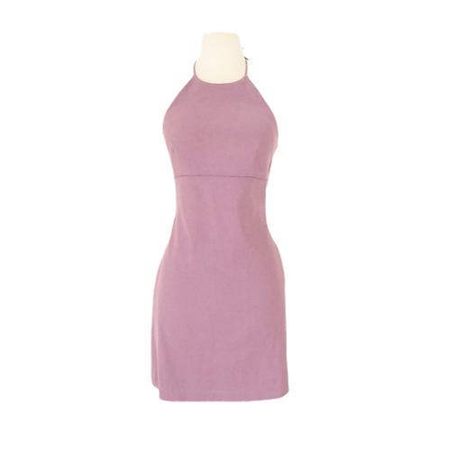 Purple Halter Mini Dress