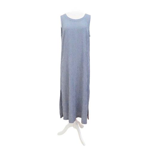 Blue Seersucker Shift Dress