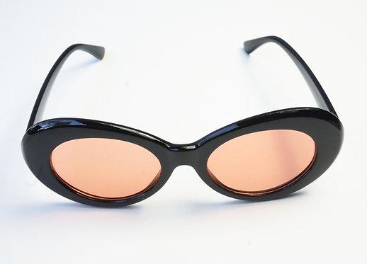 Black and Orange Oval Sunnies
