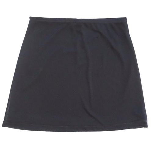 Stretch Mesh Black Mini Skirt