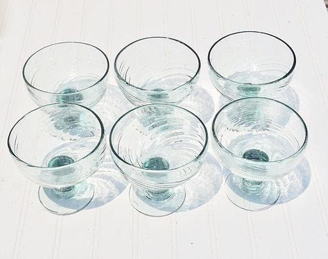 Teal Round Glass Set (6)