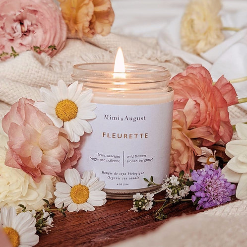 Fleurette Organic Soy Candle
