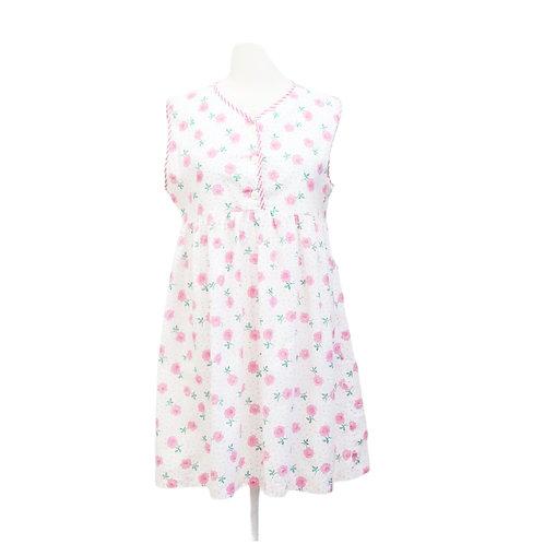 White & Pink Floral Nightie Dress