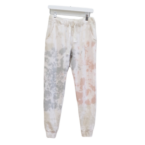 Pink and Grey Tie Dye Sweatpants