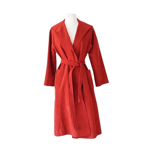 Red Belted Suede Jacket