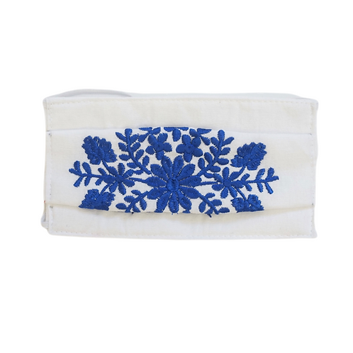 Embroidered Cotton Face Mask