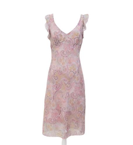 Pink Paisley Midi Dress