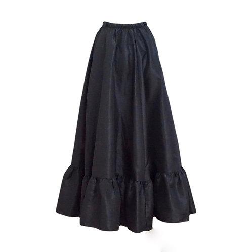 Long Plain Black Petticoat