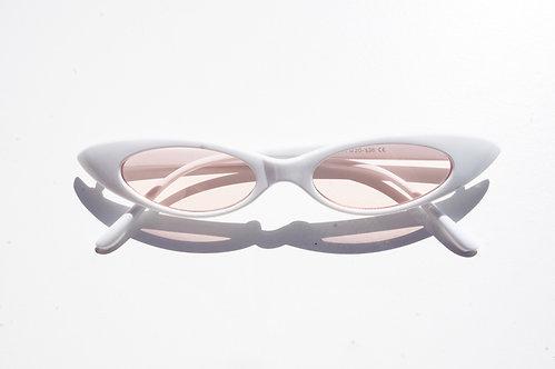 White & Pink Cat Eye Sunnies