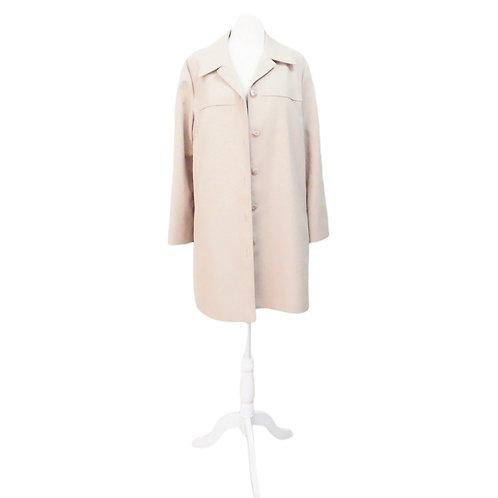 Short Beige Trench Coat