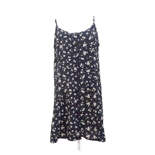 Blue Floral Button Down Mini Dress