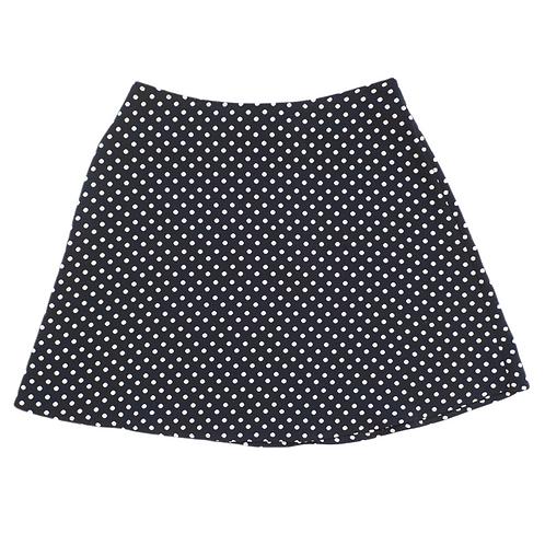 Black Polka Dot Mini Skirt