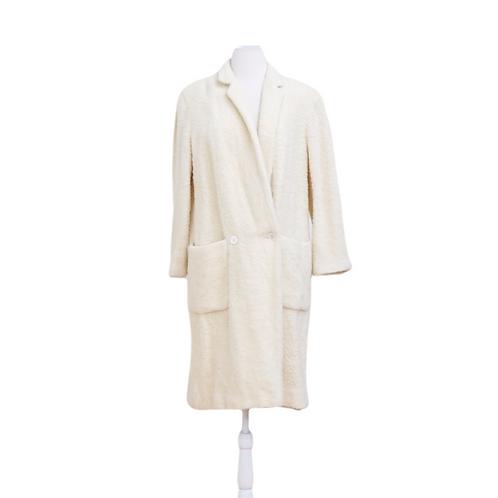 Long Wool Cream Coat