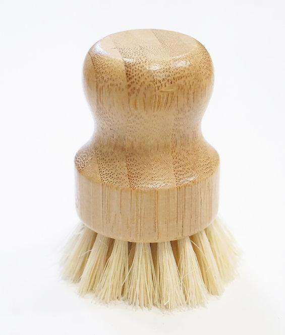 Short Bamboo Scrub Brush