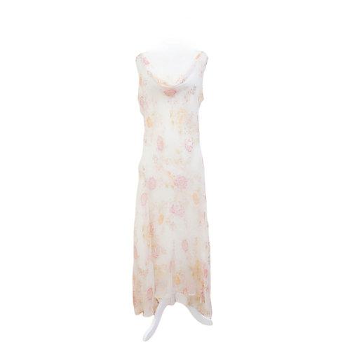 White Floral Slip Dress