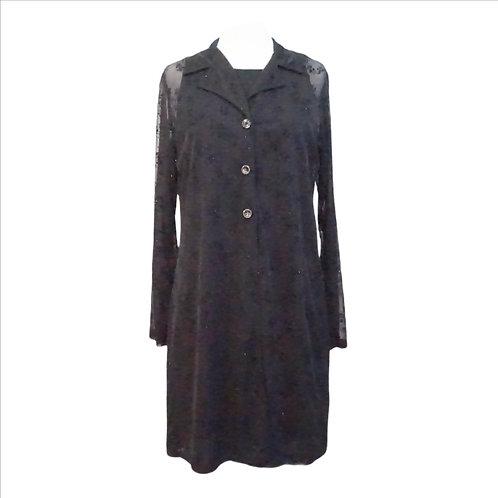 90s Black Layered Dress