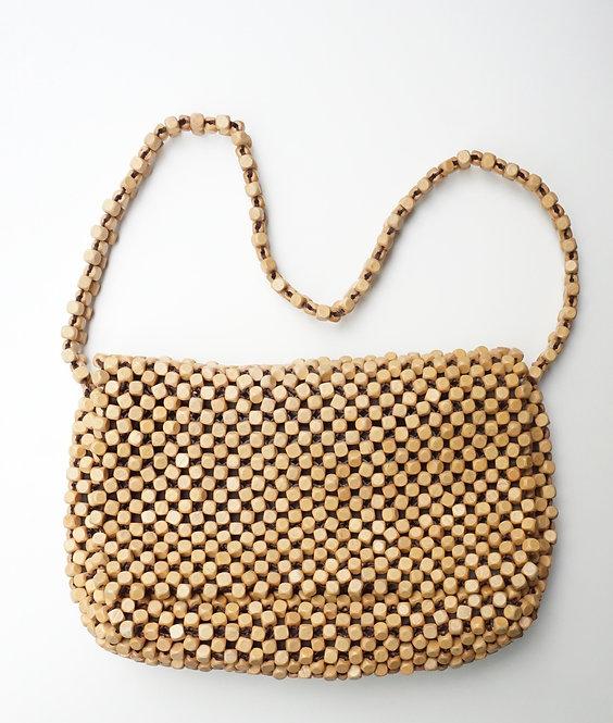 Tan Beaded Handbag