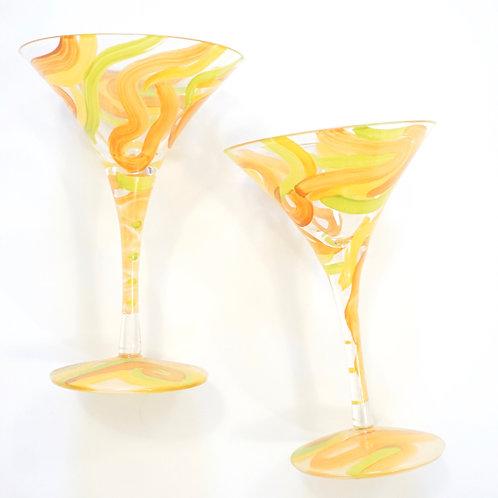 Tequini Painted Martini Glass