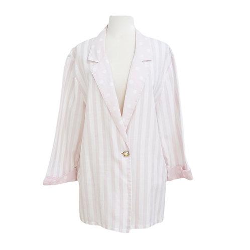 Pink Striped Cotton Blazer