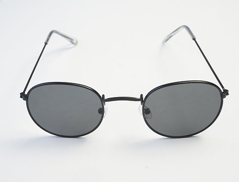 Black and Grey Rounded Sunnies