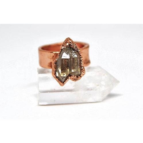 Raw Herkimer Diamond Ring
