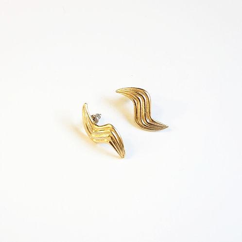 Gold Lightning Earring