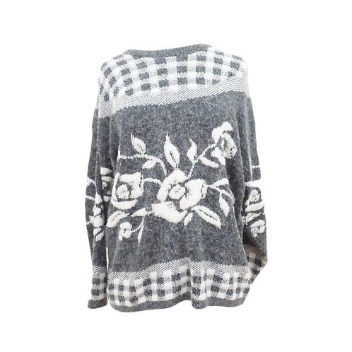 Grey Rose Sweater