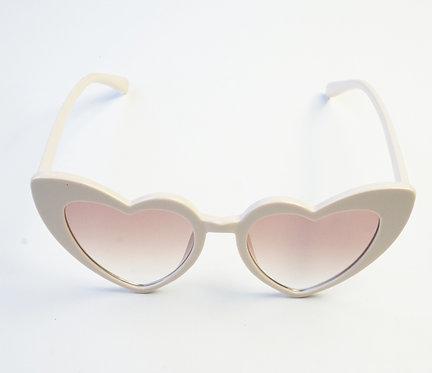 Cream Heart Glasses