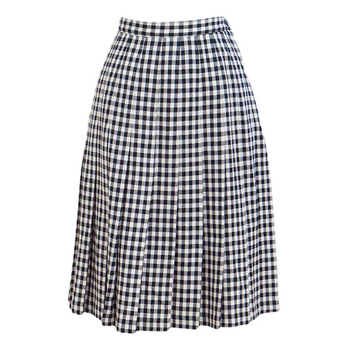 Checkered Pendelton Midi Skirt