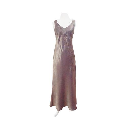 Iridescent Mauve Beaded Dress