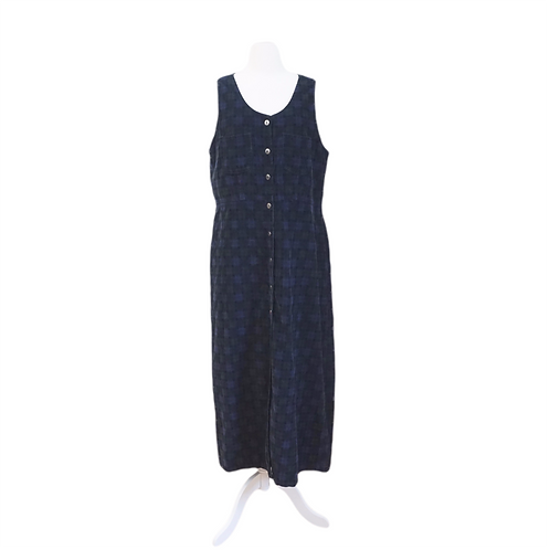 Navy Cord Jumper Dress