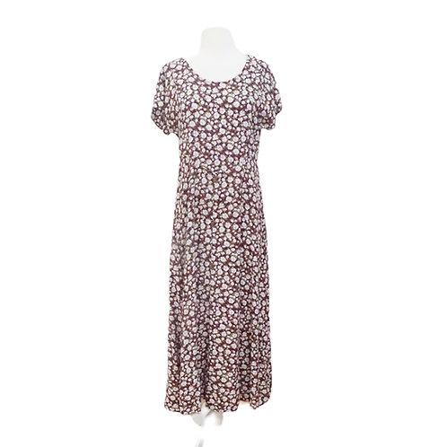 Floral Burgundy Maxi Dress