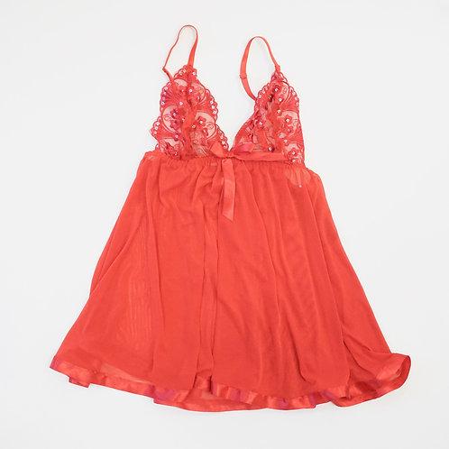 Red Babydoll Slip Set