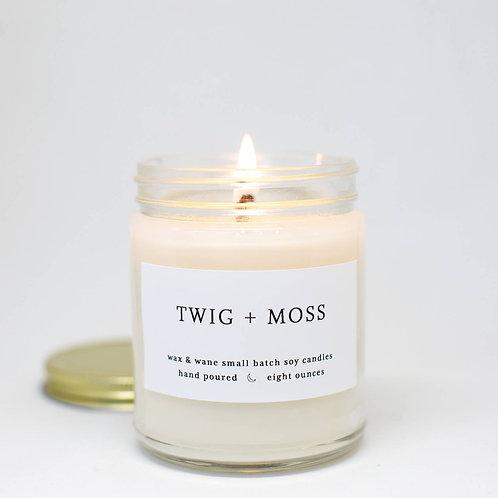 Twig + Moss Candle