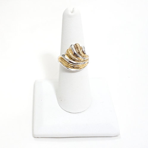 Gold & Silver Wave Ring