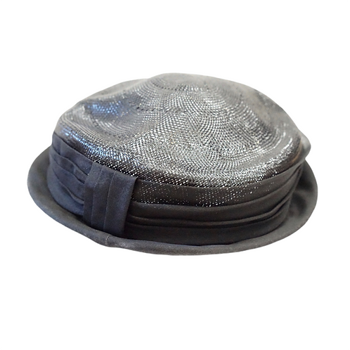 Black Pillbox Hat with Bow